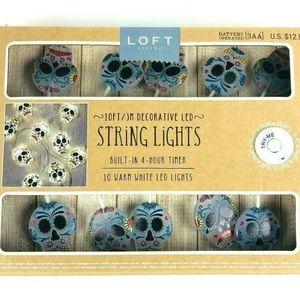 Skull string lights 10ft decorative led